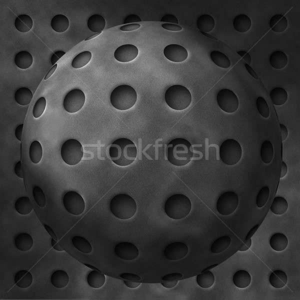 Abstract metal balls with holes Stock photo © Balefire9