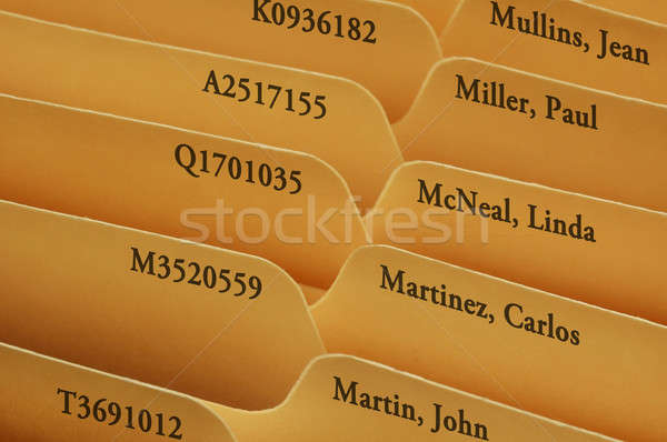 Manila file folder tabs Stock photo © Balefire9