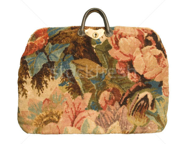 Antique carpetbag with a flower pattern Stock photo © Balefire9