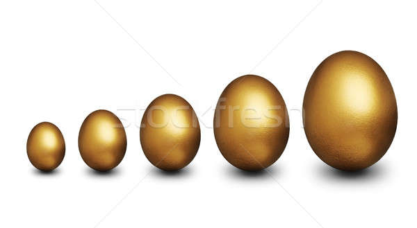 Stock photo: Golden eggs representing financial security