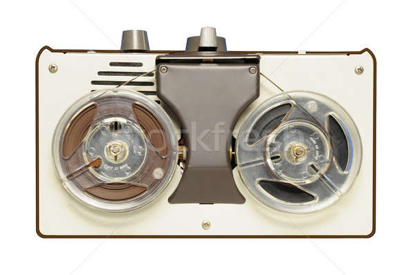 Vintage reel-to-reel tape recorder circa 1967 Stock photo © Balefire9