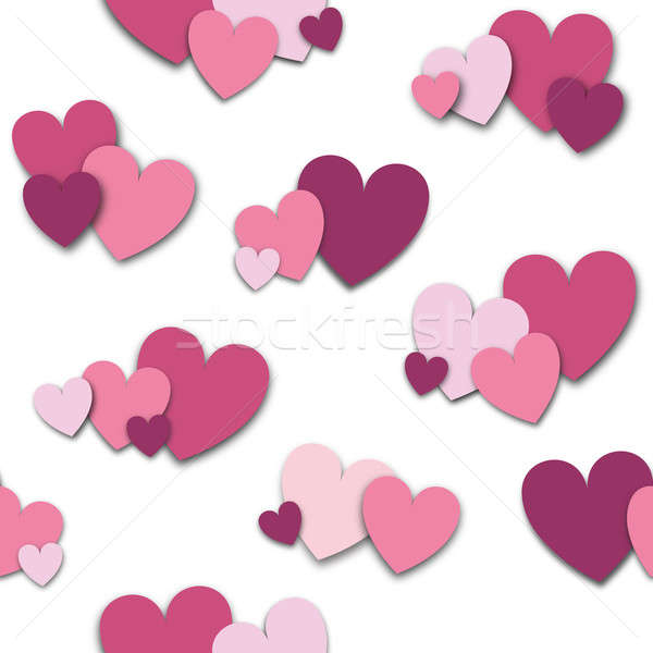 Field of pink and purple hearts tileable Stock photo © Balefire9