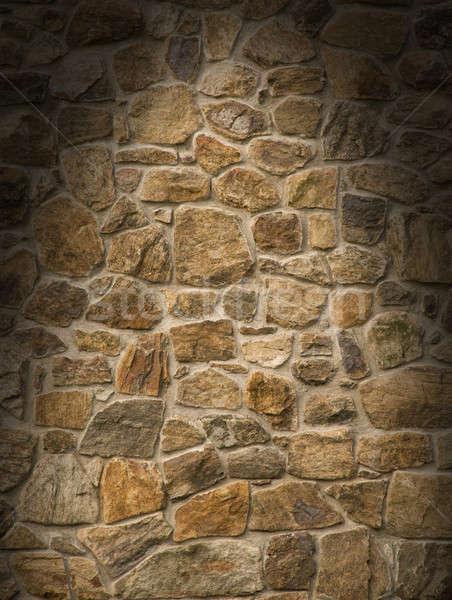 Brun maçonnerie Rock mur Photo stock © Balefire9