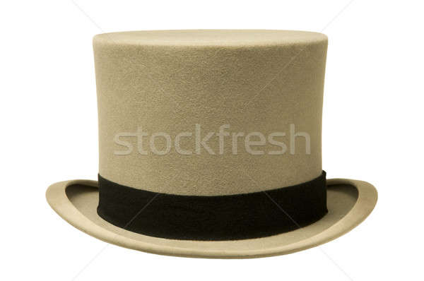 Klasszikus szürke felső kalap fehér divat Stock fotó © Balefire9