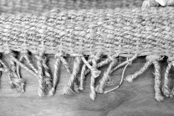 Woven mat on the floor Stock photo © Bananna