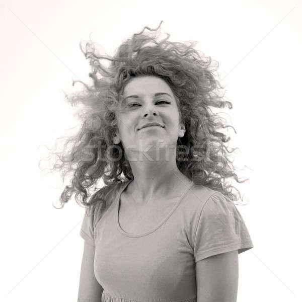 Uśmiechnięty uśmiechnięta kobieta kobieta ruchu twarz sexy Zdjęcia stock © Bananna