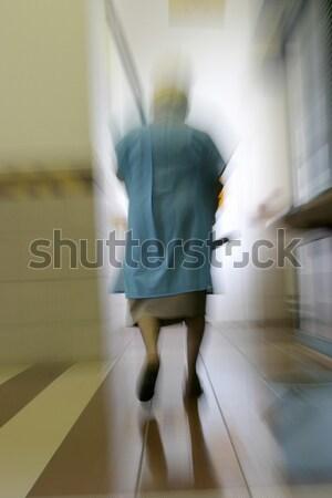 очистки Lady ходьбе ковша аннотация Сток-фото © Bananna