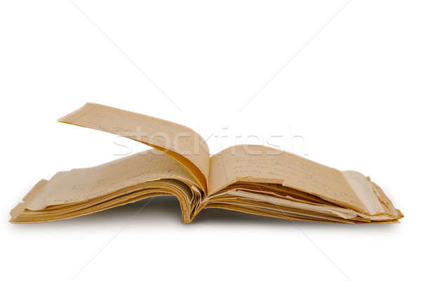 Antic notebook Stock photo © Bananna