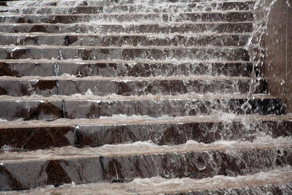 Mermer merdiven çeşme Berlin Almanya Stok fotoğraf © Bananna
