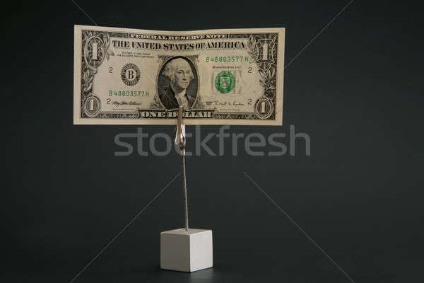 Bir dolar imzalamak finanse banka karanlık Stok fotoğraf © Bananna