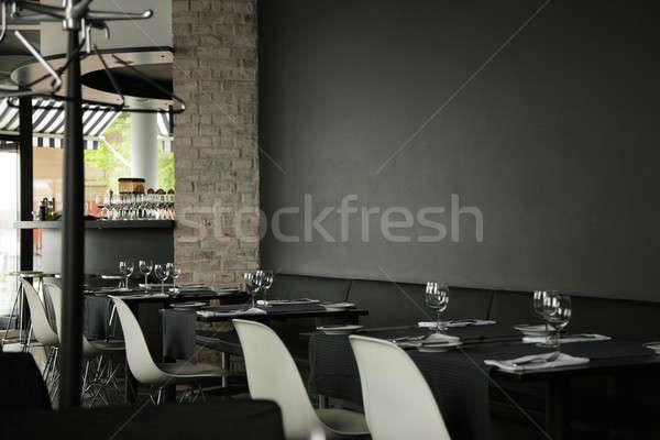 ресторан интерьер темно стены дизайна фон Сток-фото © Bananna