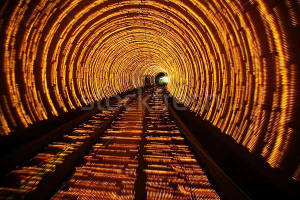 Soyut tünel ışıklar araba yol ışık Stok fotoğraf © Bananna