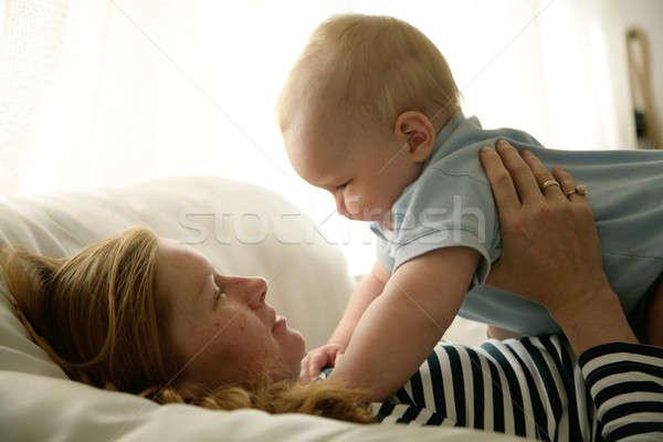матери сын счастливым женщину лице любви Сток-фото © Bananna