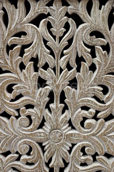 орнамент листва черный детали Vintage Сток-фото © Bananna