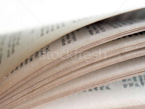 Antic book page background Stock photo © Bananna