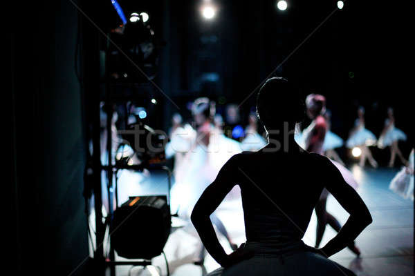 Stock photo: Waiting in the wings