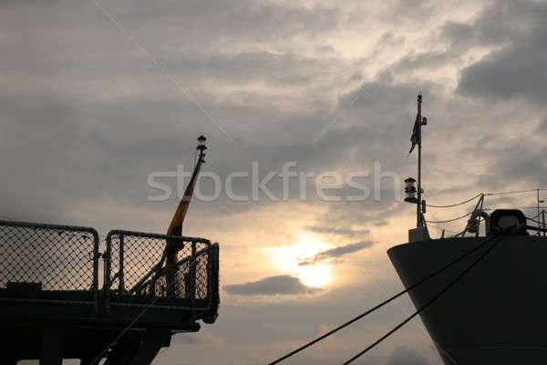 заседание два суда закат солнце Сток-фото © Bananna