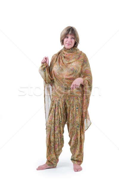 красивая женщина европейский рук тело одежды Сток-фото © Bananna