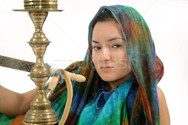 Mujer agua tubería primer plano exótico mujeres Foto stock © Bananna
