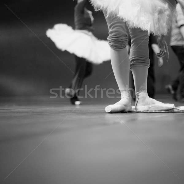 Ballet dancers in repetition Stock photo © Bananna