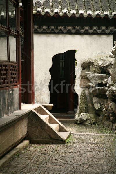 китайский дизайна саду архитектура Азии улице Сток-фото © Bananna