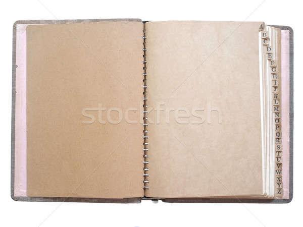 ヴィンテージ ノートブック 孤立した 白 オフィス ストックフォト © Bananna