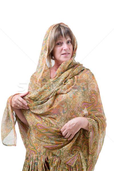 красивая женщина йога стиль европейский индийской Сток-фото © Bananna