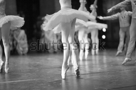 ног Dance изящный ног стороны женщины Сток-фото © Bananna