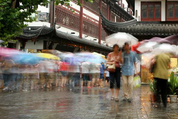 Shanghai rain Stock photo © Bananna