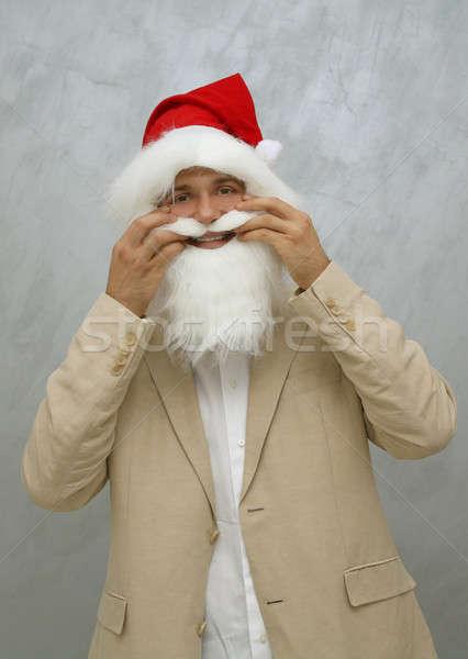 Noel eğlence gülümseme parti yüz Stok fotoğraf © Bananna