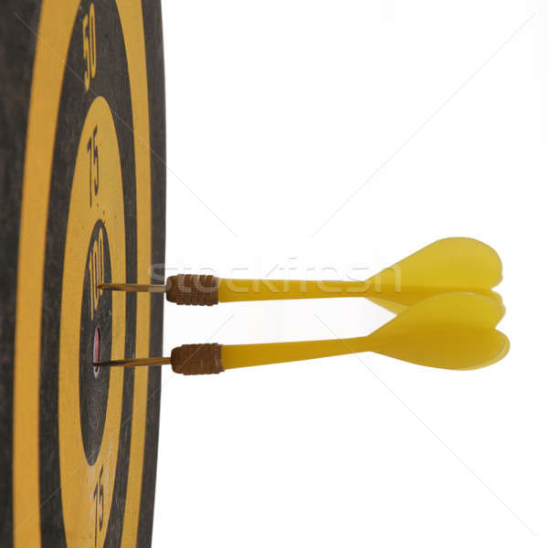 дартс желтый дартс совета черный Сток-фото © Bananna