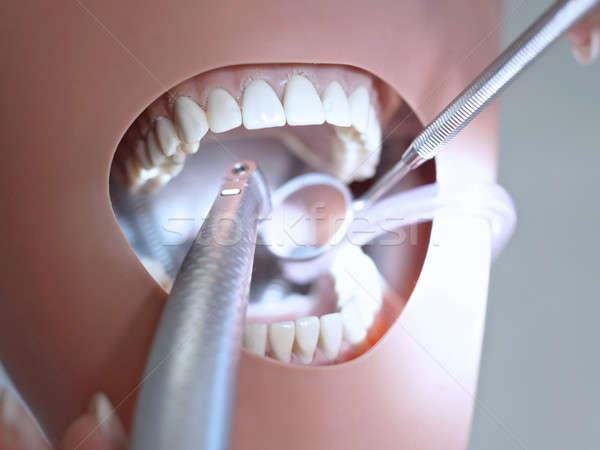Dental phantom manipolazione tecnologia sfondo medicina Foto d'archivio © Bananna