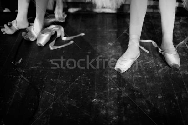 Taking off pointes Stock photo © Bananna