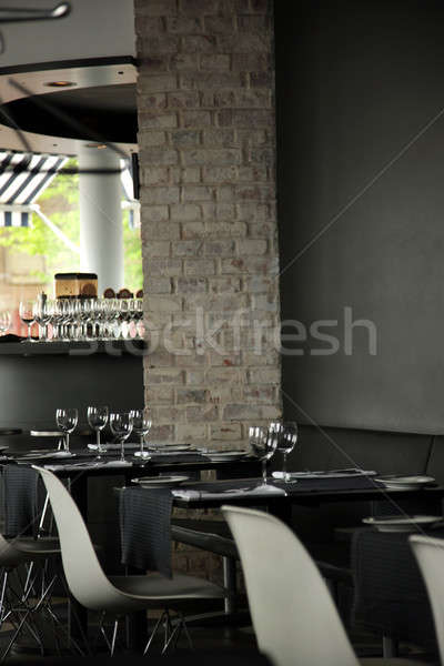 Restoran iç boş hazır dizayn arka plan Stok fotoğraf © Bananna