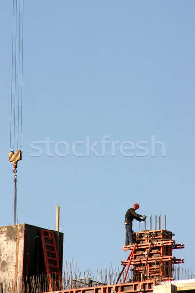 çalışma adam Bina inşaat Metal Stok fotoğraf © Bananna