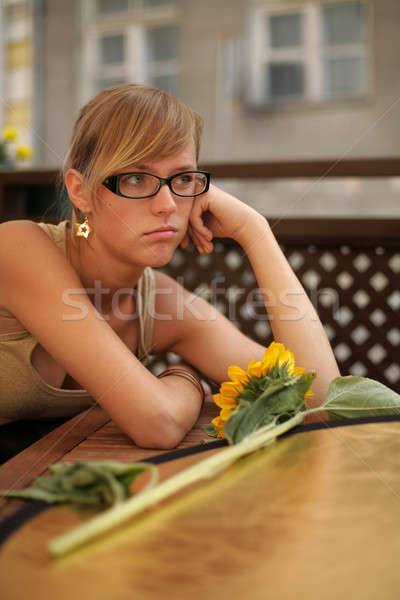 irritated girl Stock photo © Bananna