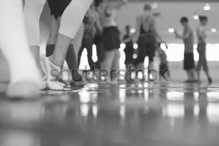 элегантность движения изящный танцы ног этап Сток-фото © Bananna