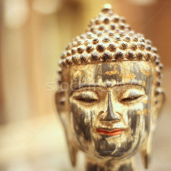 Huzurlu Buda kafa hatıra yaldızlı bulanık Stok fotoğraf © Bananna
