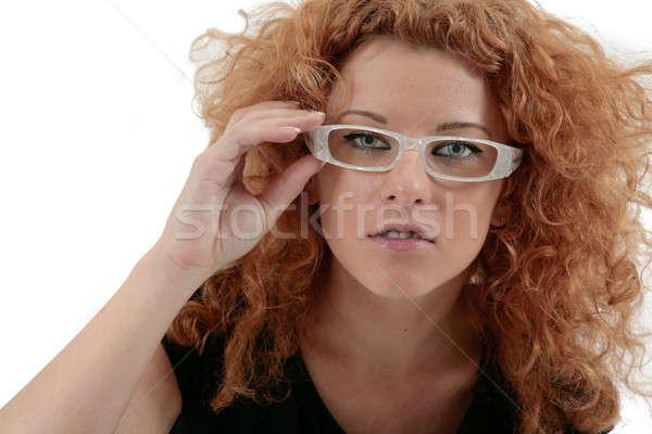 Femme d'affaires portrait regarder caméra femme bureau Photo stock © Bananna