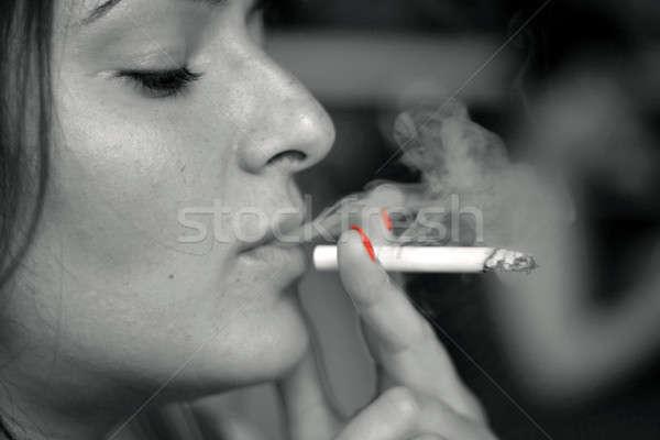 smoking woman Stock photo © Bananna