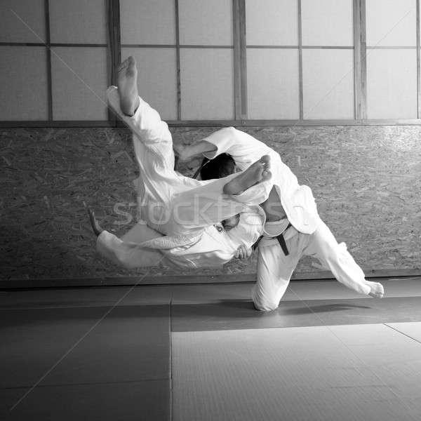 Judo lucha hombre deporte tren ejercicio Foto stock © Bananna
