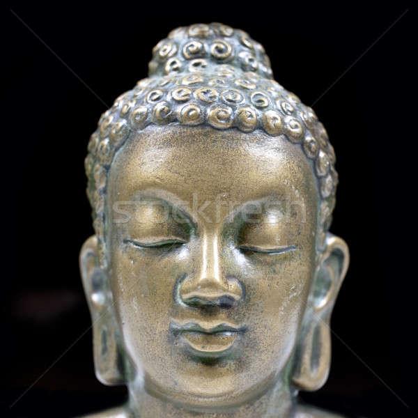 Будду портрет квадратный изолированный черный молятся Сток-фото © Bananna