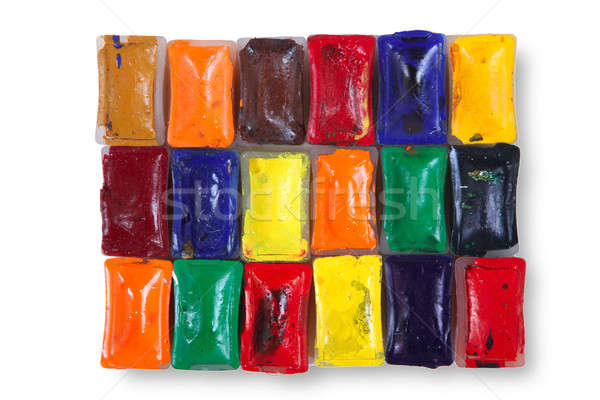 акварель набор изолированный белый текстуры краской Сток-фото © Bananna
