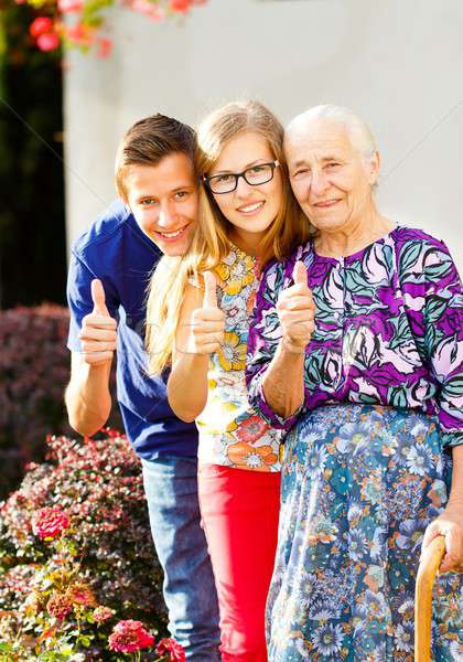 Generations Thumbs Up Stock photo © barabasa