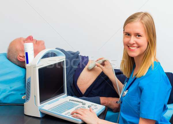 Echography Examination Stock photo © barabasa