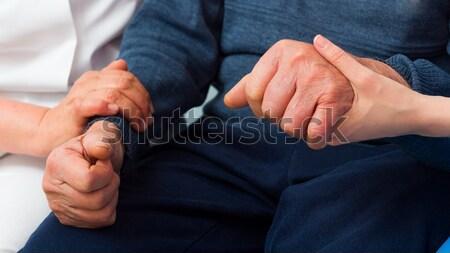 ヒーリング 電源 連帯感 高齢者 男 深刻 ストックフォト © barabasa