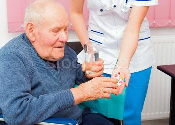 Elderly Health Issues Stock photo © barabasa