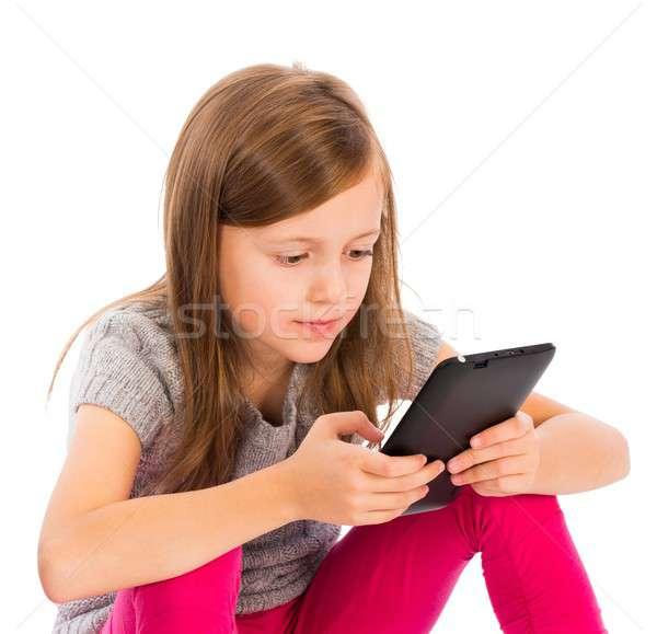 Unsociable Children Beacuse of Technology Stock photo © barabasa