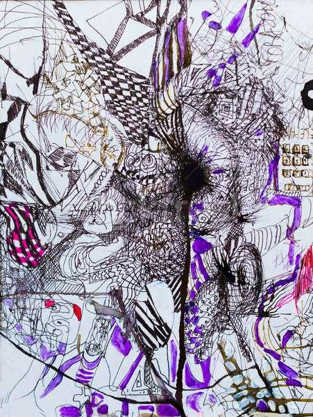 抽象的な 芸術 装飾 混合した インスピレーション ストックフォト © barabasa