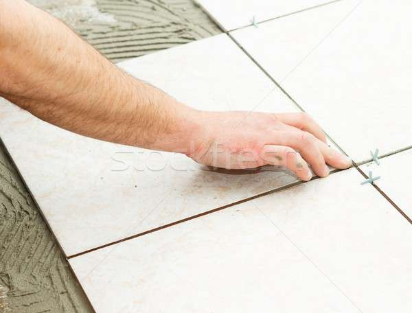 Floor Tiling Stock photo © barabasa